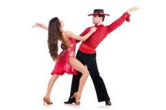 Par av dansare Arkivfoton