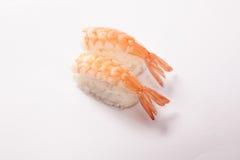 Par av den Ebi (räka) sushi Arkivbilder