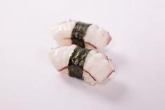Par av den Tako (bläckfisk) sushi Royaltyfri Fotografi