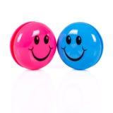 Par av färgrika smileys Royaltyfria Foton