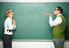 Par av förälskade nerds Royaltyfri Bild