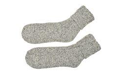 Par av Gray Warm Winter Socks Fotografering för Bildbyråer