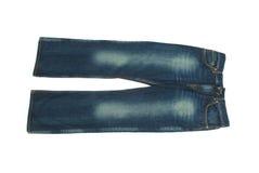 Par av jeans som isoleras på whiten arkivbilder