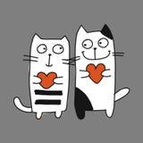 Par av katten, skissar för din design vektor illustrationer