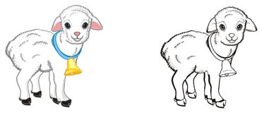 Par av lamm stock illustrationer