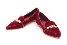 Par av moderiktiga skor för dam Royaltyfria Foton