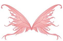 Par av rosa felika vingar royaltyfri illustrationer