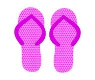 Par av rosa Flip Flops också vektor för coreldrawillustration stock illustrationer