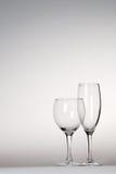 Par av wineexponeringsglas arkivfoto