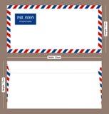 Par Avion Postal Envelope. An air mail envelope for designers Stock Image