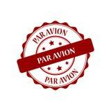 Par avion stamp illustration. Par avion red stamp seal illustration design Stock Photos