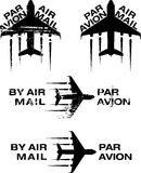 Par Avion Rubber stamp 02 Royalty Free Stock Images