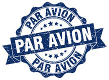 Par avion stamp. sign. seal Royalty Free Stock Photo
