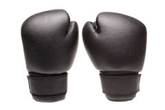 Par boxing gloves. On a white background royalty free stock photo