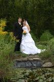 par bröllop Arkivfoto
