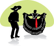 par dansar folkloric mexikan Arkivfoto