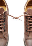 Par de sapatos limitado junto Foto de Stock