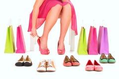 Par de sapatos novo Fotos de Stock