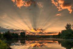 Par des nuages Photographie stock libre de droits