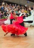 Par för balsaldans Fotografering för Bildbyråer