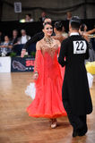 Par för balsaldans som dansar på konkurrensen Arkivfoton