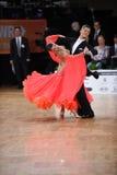 Par för balsaldans som dansar på konkurrensen Fotografering för Bildbyråer
