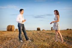 par field gift närliggande Arkivfoto