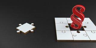Par?grafo vermelho das partes do enigma ilustração do vetor
