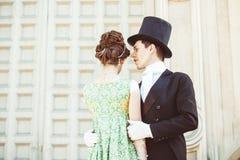 Par i aftonkläder royaltyfria bilder
