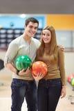 Par i bowling Royaltyfri Foto