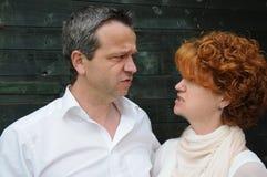 Par i Conflict Arkivbilder