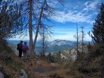 Par i Julian Alps i Slovenie Royaltyfria Bilder