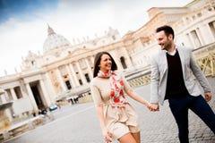 Par i Rome Royaltyfri Fotografi