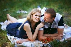 Par i skog Fotografering för Bildbyråer