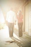 Par i solnedgång Royaltyfria Foton