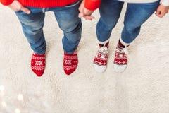 Par i stack sockor Royaltyfria Foton