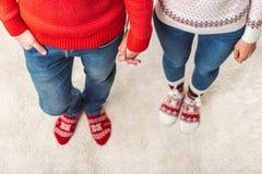Par i stack sockor Fotografering för Bildbyråer