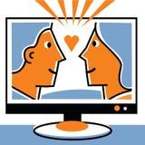 Par i television Vektor Illustrationer