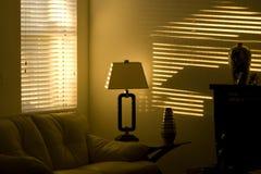 Lumière du soleil sur le mur Image stock