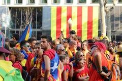 Par l'intermédiaire de Catalana, 11 09 2014 Photos libres de droits