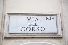 Par l'intermédiaire de del Corso Photos stock