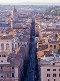 Par l'intermédiaire de del Corso, Rome Image libre de droits
