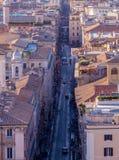 Par l'intermédiaire de del Corso, Rome Photos libres de droits