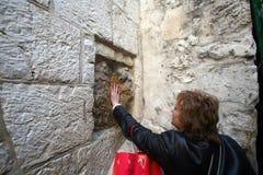Par l'intermédiaire de Dolorosa, 5èmes stations de la croix, Jérusalem Images stock