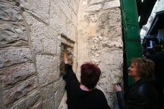 Par l'intermédiaire de Dolorosa, 5èmes stations de la croix, Jérusalem Photographie stock libre de droits