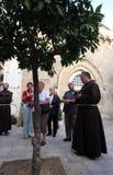 Par l'intermédiaire de Dolorosa, 1ères stations de la croix, Jérusalem Photographie stock libre de droits