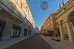 Par l'intermédiaire de Garibaldi au centre de Gorizia photographie stock