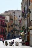 Par l'intermédiaire de Garibaldi, Quartiere Villanova, Cagliari, Sardaigne, Italie Photos stock