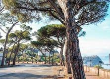 Par l'intermédiaire de Manzoni, Naples Photos stock