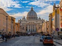 Par l'intermédiaire du della Conciliazione, à Rome photos stock